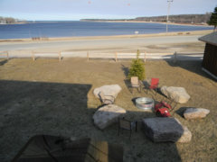 Outdoor Fire Pit and Lake View